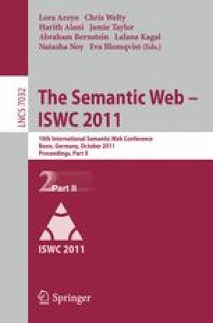 The Semantic Web – ISWC 2011