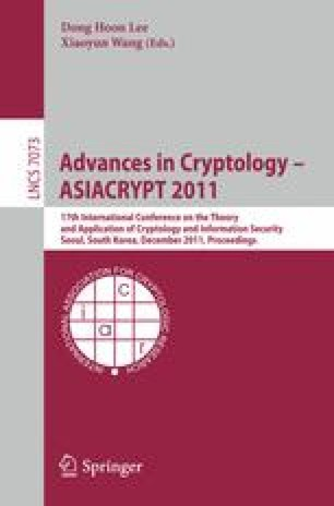 Advances in Cryptology – ASIACRYPT 2011