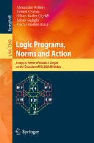 Logic Programs, Norms and Action