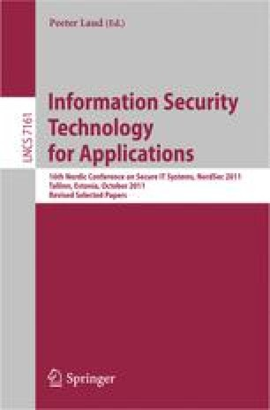 Information Security Technology for Applications