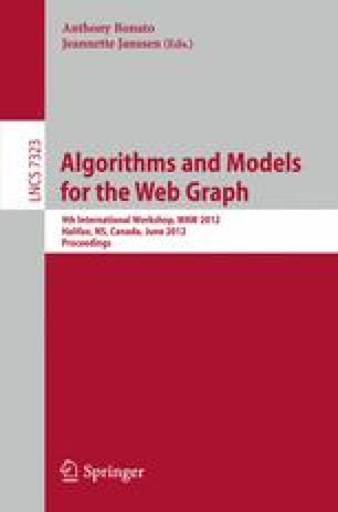 Algorithms and Models for the Web Graph