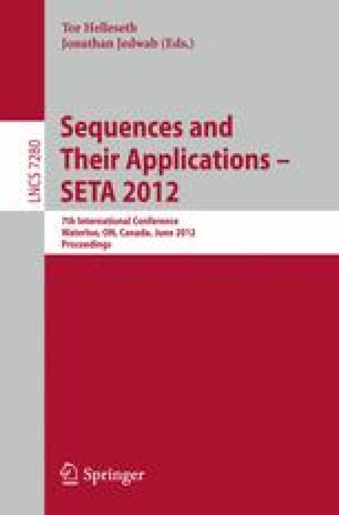Sequences and Their Applications – SETA 2012