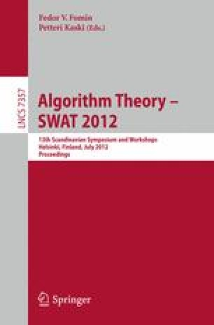 Algorithm Theory – SWAT 2012
