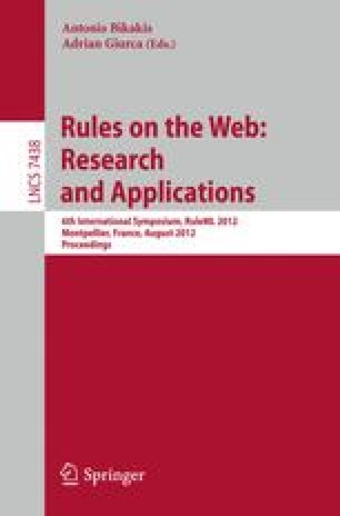 Rules on the Web: Research and Applications