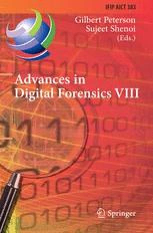 Advances in Digital Forensics VIII