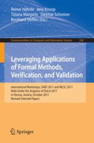 Leveraging Applications of Formal Methods, Verification, and Validation