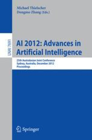 AI 2012: Advances in Artificial Intelligence