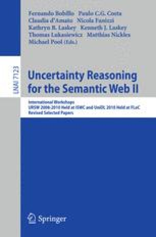Uncertainty Reasoning for the Semantic Web II