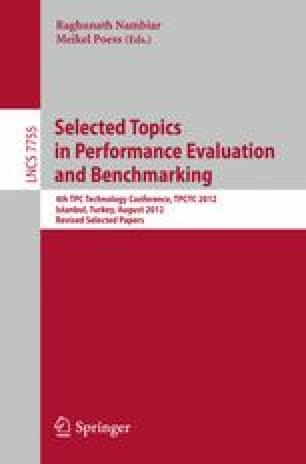 Selected Topics in Performance Evaluation and Benchmarking