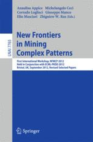 New Frontiers in Mining Complex Patterns