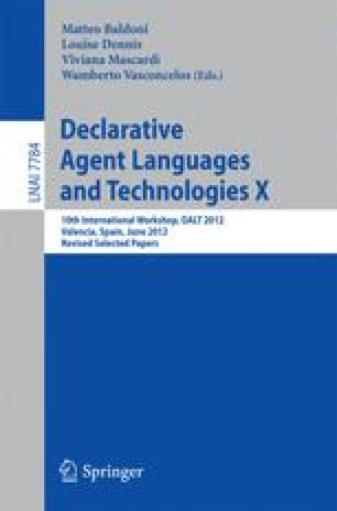 Declarative Agent Languages and Technologies X