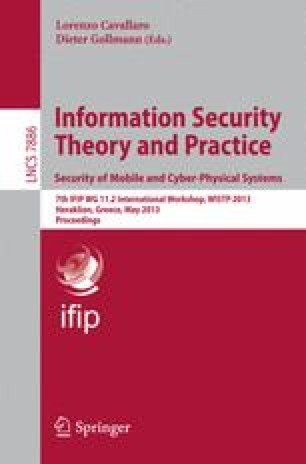 Information Security Theory and Practice. Security of Mobile and Cyber-Physical Systems