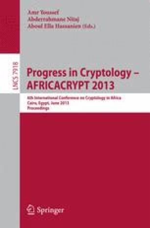 Progress in Cryptology – AFRICACRYPT 2013