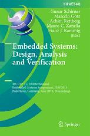 Embedded Systems: Design, Analysis and Verification