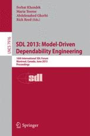 SDL 2013: Model-Driven Dependability Engineering