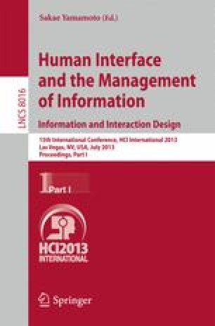 Human Interface and the Management of Information. Information and Interaction Design