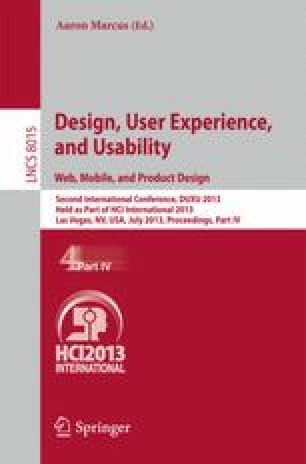 Design User Experience And Usability Web Mobile And Product Design Springerlink