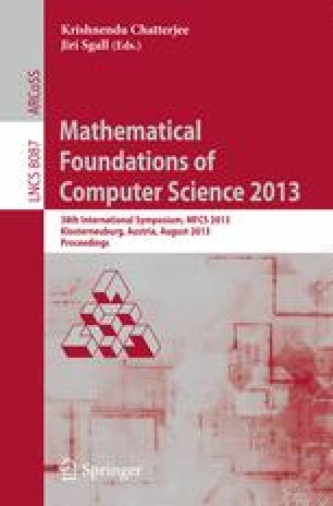 Mathematical Foundations of Computer Science 2013