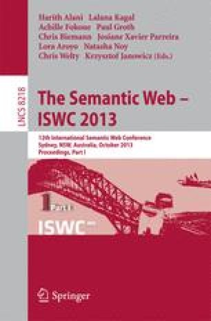 The Semantic Web – ISWC 2013