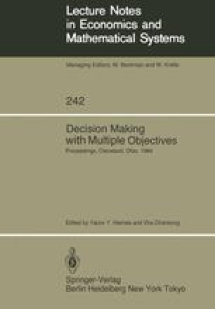 Decision Making with Multiple Objectives