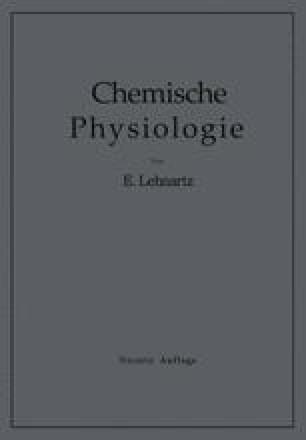 Einführung in die Chemische Physiologie