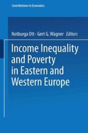Income Inequality and Poverty in Eastern and Western Europe