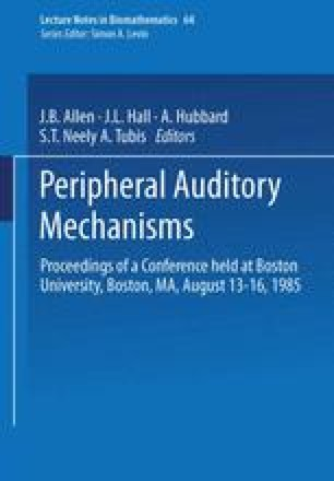 Peripheral Auditory Mechanisms