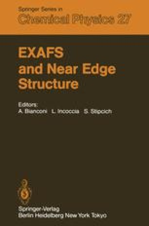 EXAFS and Near Edge Structure