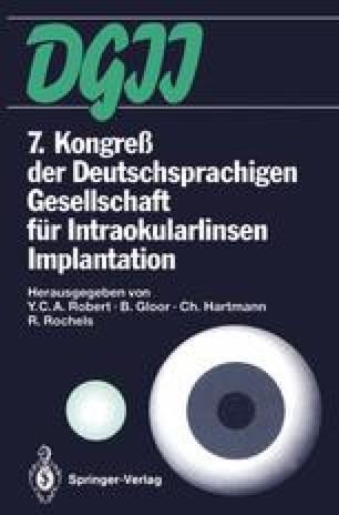 7. Kongreß der Deutschsprachigen Gesellschaft für Intraokularlinsen Implantation