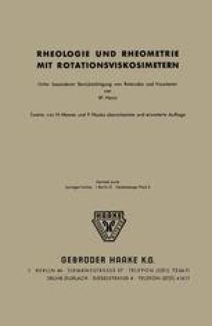 Rheologie und Rheometrie mit Rotationsviskosimetern