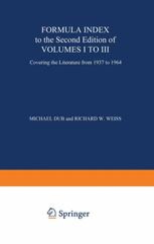 Formula Index to the Second Edition of Volume I to III