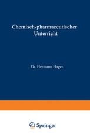 Chemisch-pharmaceutischer Unterricht
