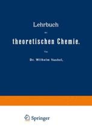 Lehrbuch der theoretischen Chemie