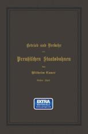 Betrieb und Verkehr der Preußischen Staatsbahnen