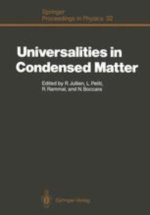 Universalities in Condensed Matter