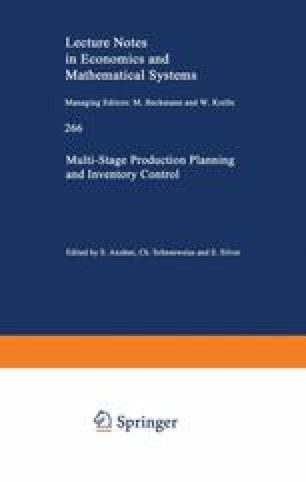 Multi-Stage Production Planning and Inventory Control