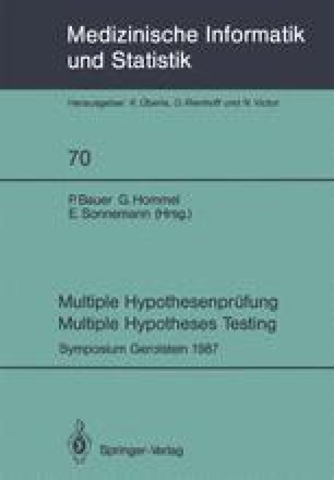 Multiple Hypothesenprüfung / Multiple Hypotheses Testing