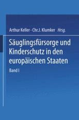 Säuglingsfürsorge und Kinderschutz in den europäischen Staaten