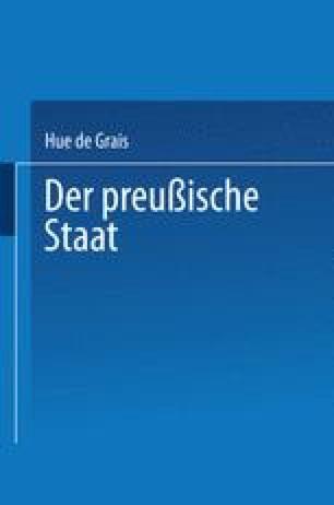 Handbuch der Gesetzgebung in Preußen und dem Deutschen Reiche