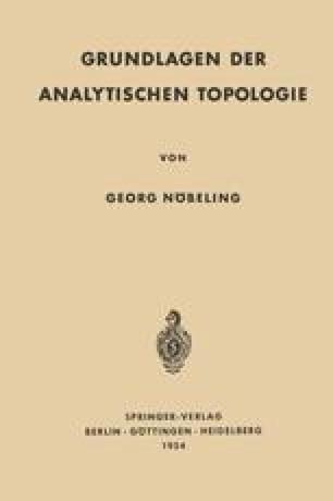 Grundlagen der Analytischen Topologie
