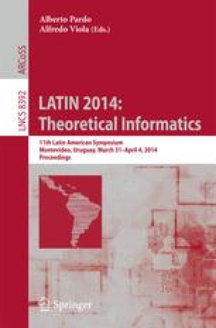 LATIN 2014: Theoretical Informatics
