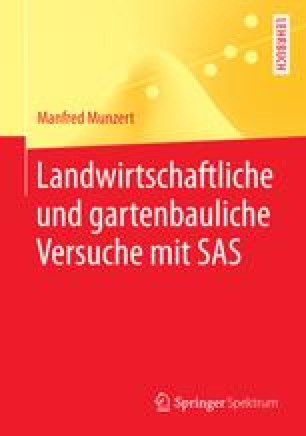 Landwirtschaftliche und gartenbauliche Versuche mit SAS