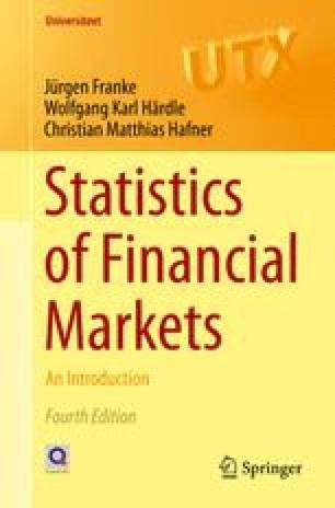 Statistics of Financial Markets