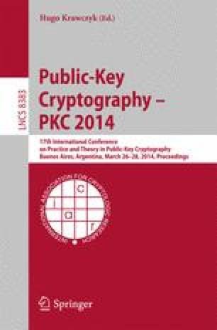 Public-Key Cryptography – PKC 2014