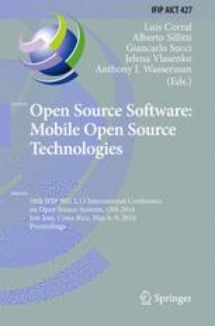 Open Source Software: Mobile Open Source Technologies