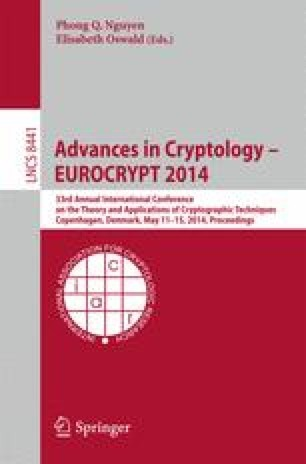 Advances in Cryptology – EUROCRYPT 2014