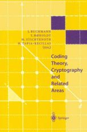 Coding Theory, Cryptography and Related Areas