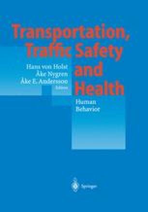 Transportation, Traffic Safety and Health — Human Behavior