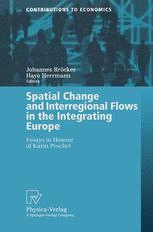 Spatial Change and Interregional Flows in the Integrating Europe
