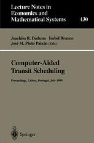 Real-Time Computer Aided Adaptive Control in Public Transport from